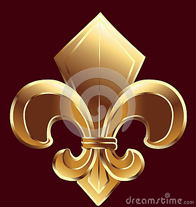 Free Fleur De Lis, New Orleans In Gold Stock Photography - 26807072