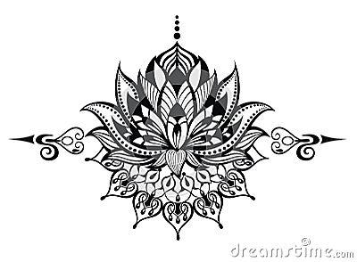 fleur de lotus tatouage illustration de vecteur image 61806088. Black Bedroom Furniture Sets. Home Design Ideas