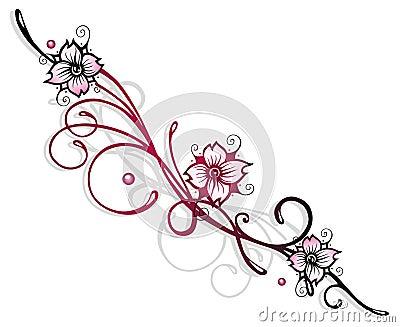 Fleurs de cerisier image libre de droits image 35667956 - Fleur de cerisier tatouage ...