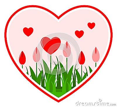 Fleurs de coeur au coeur