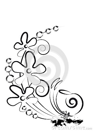 Fleurs et escargot