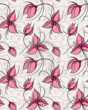 Fleurs rouges d orchidée de configuration sans joint