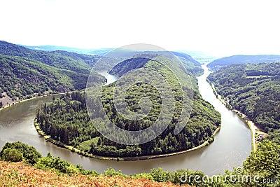 Fleuve la Sarre de Saarschleife