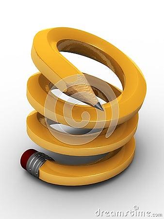 Spiralling pencil
