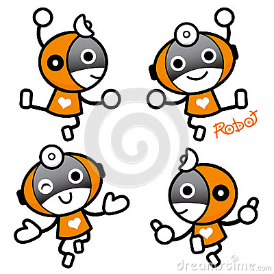 Flexibility as possible a sets of Robot Mascot. Appliances and H