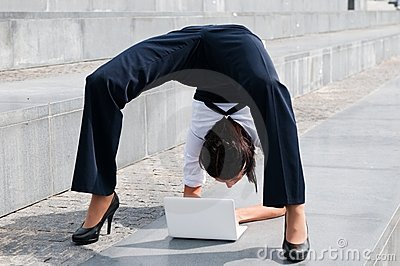 Flexible business - woman