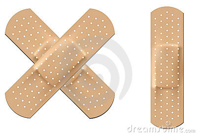 Flexible fabric bandage