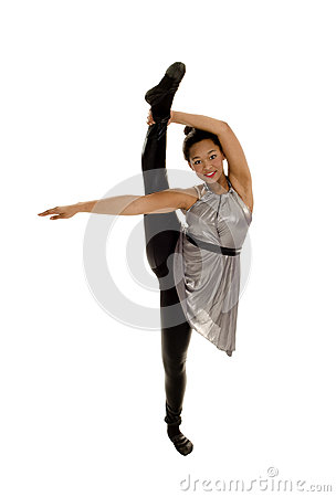 Flexible Jazz Dancer Raising Leg