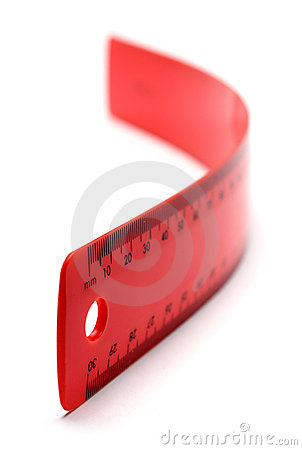 Flexible Red Ruler
