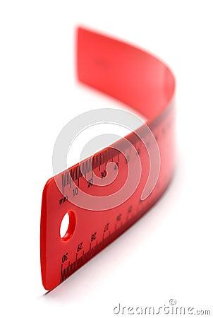 Flexible Red Ruler