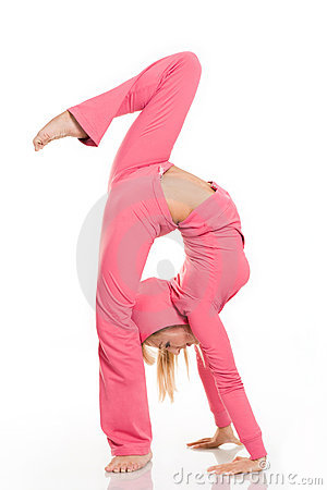 woman flexible
