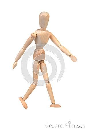 Flexible wooden doll