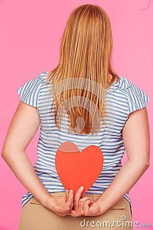 Flicka med hjärta