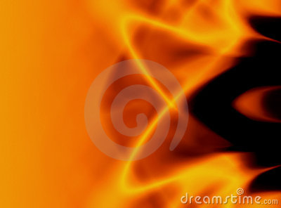 Flickering flames abstract