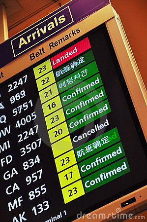 Flight arrival information