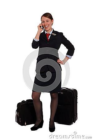Flight attendant done work