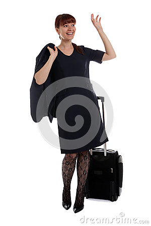 Flight attendant waving