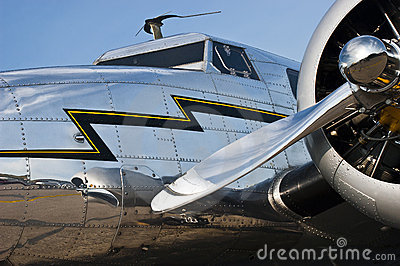 Flight, Aviation Concept, Vintage Aircraft Closeup