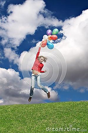 Flight by balloons