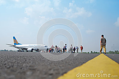 Flight boarding Editorial Photography