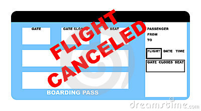 Flight canceled plane ticket
