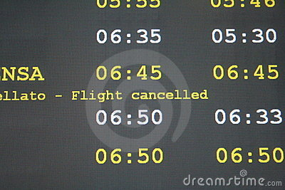 Flight cancelled