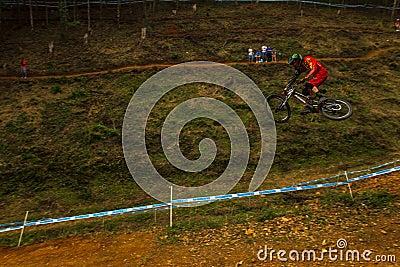 Flight Control Downhill Fox Racer MTB Editorial Photography