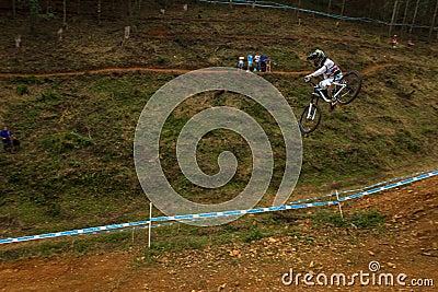 Flight Control Downhill Racer MTB Editorial Image