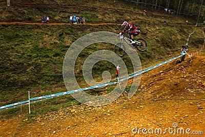 Flight Control Downhill Racer MTB Editorial Photography