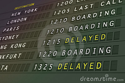 Flight departures - delayed