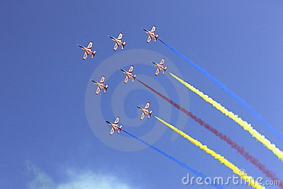 Flight formation in the sky
