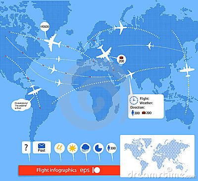 Free Flight Infographics. Stock Images - 23507414