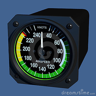 Flight Instruments - 3D - Airspeed Indicator