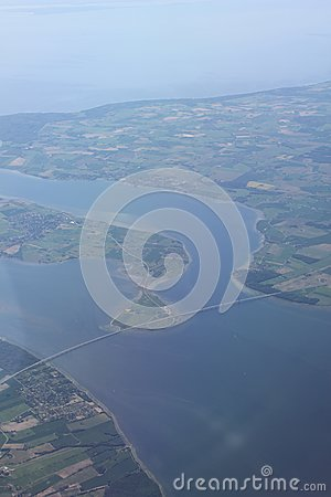 Flight over Denmark