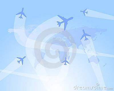 Flight routes  background