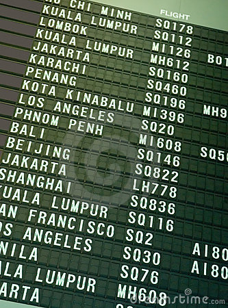 Free Flight Schedule Royalty Free Stock Image - 797716