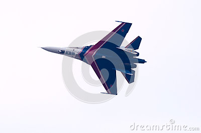 Flight su-27 Editorial Photo
