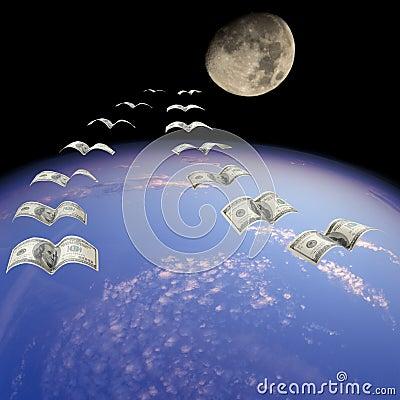 Flight to the Moon.