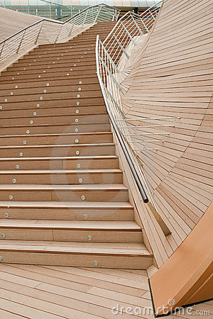 Flight of wooden stairs