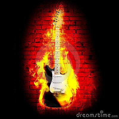 Free Flime Guitare Royalty Free Stock Photo - 23611225