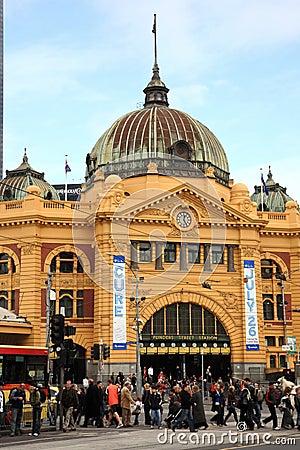 Flinders Station,Melbourne Editorial Photo