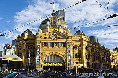 Flinders Street Station Editorial Stock Image