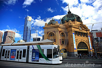 Flinders Street Station,Melbourne Editorial Image