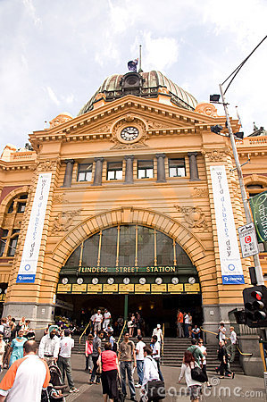 Flinders Street Station Melbourne Editorial Photography