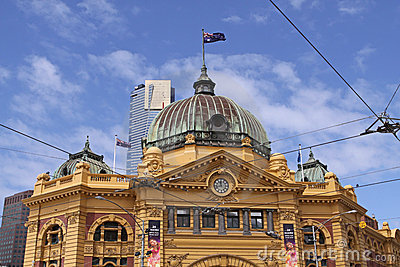 Flinders Street Station. Melbourne Editorial Photography