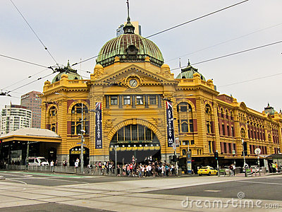 Flinders Street Station (Melbourne, Australia) Editorial Stock Image