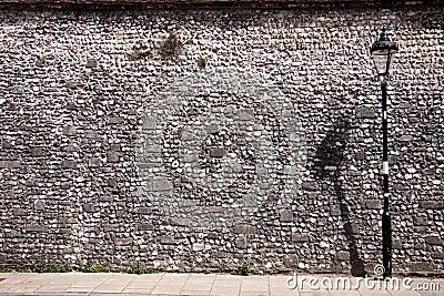 Flint wall.