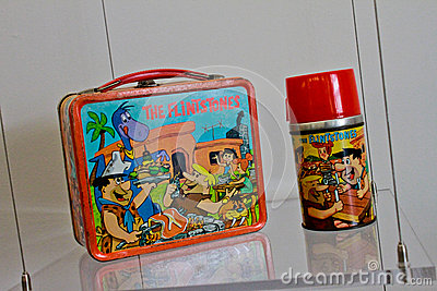 Flintstones Lunchbox and Thermos Editorial Image