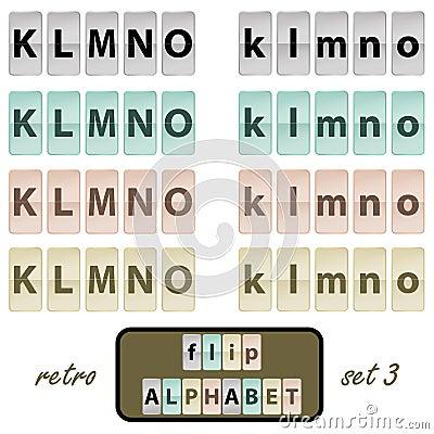Flip alphabet set 3