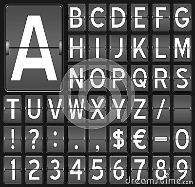 Flip Board Letters & Numbers